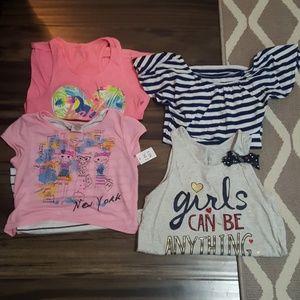 Bundle of girl's shirts